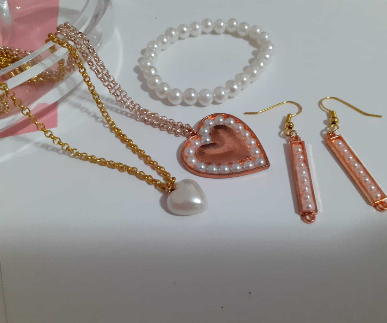 Pearl Heart Jewelry Set