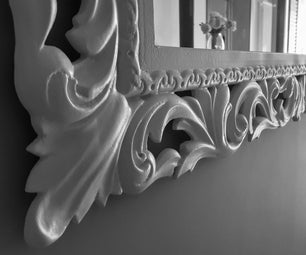 Mirror Frame Carved With CNC