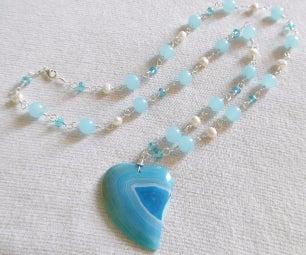 Handmade Gemstone & Crystal Link Necklace