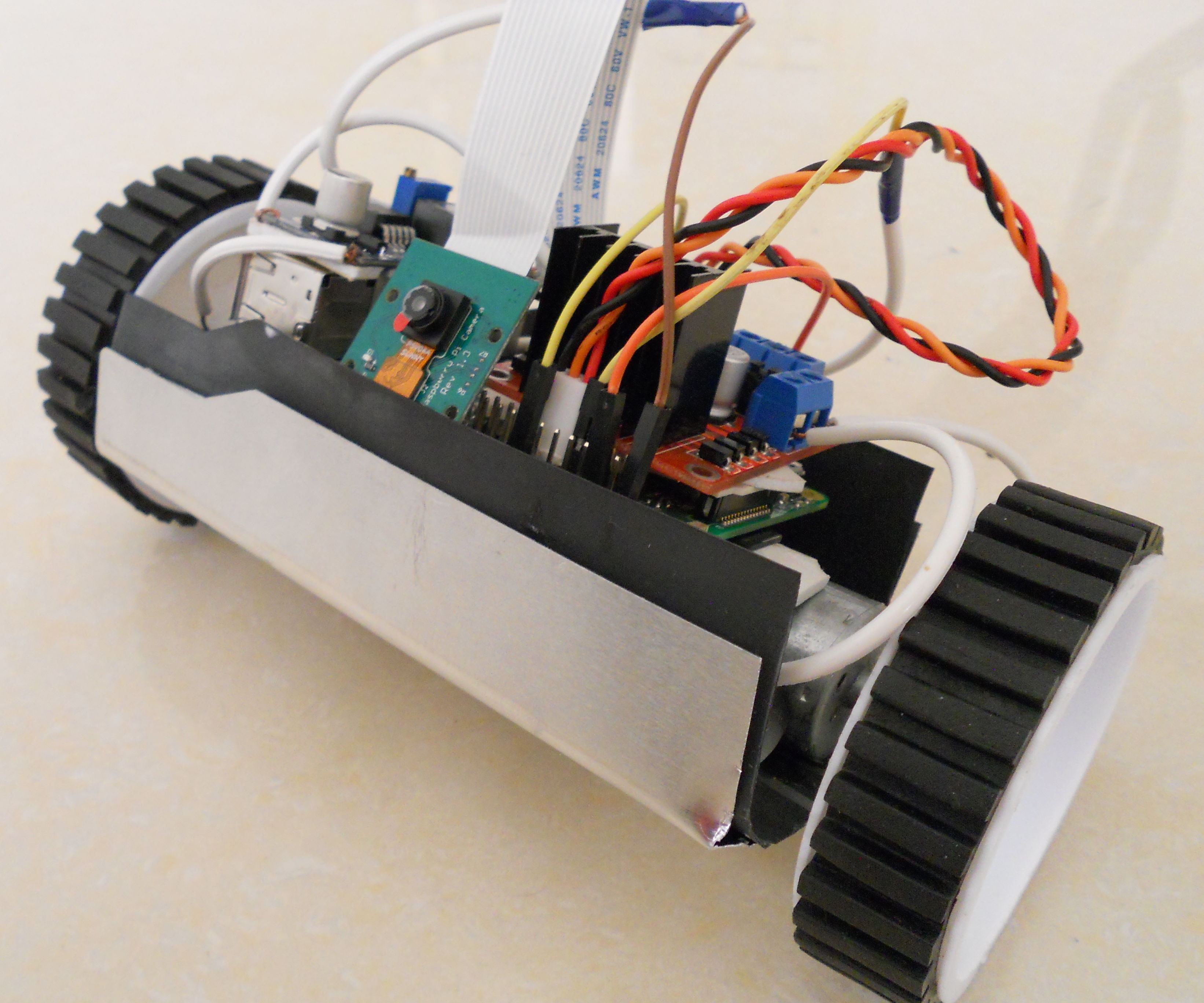 Raspberry Pi Surveillance Drone (Land)