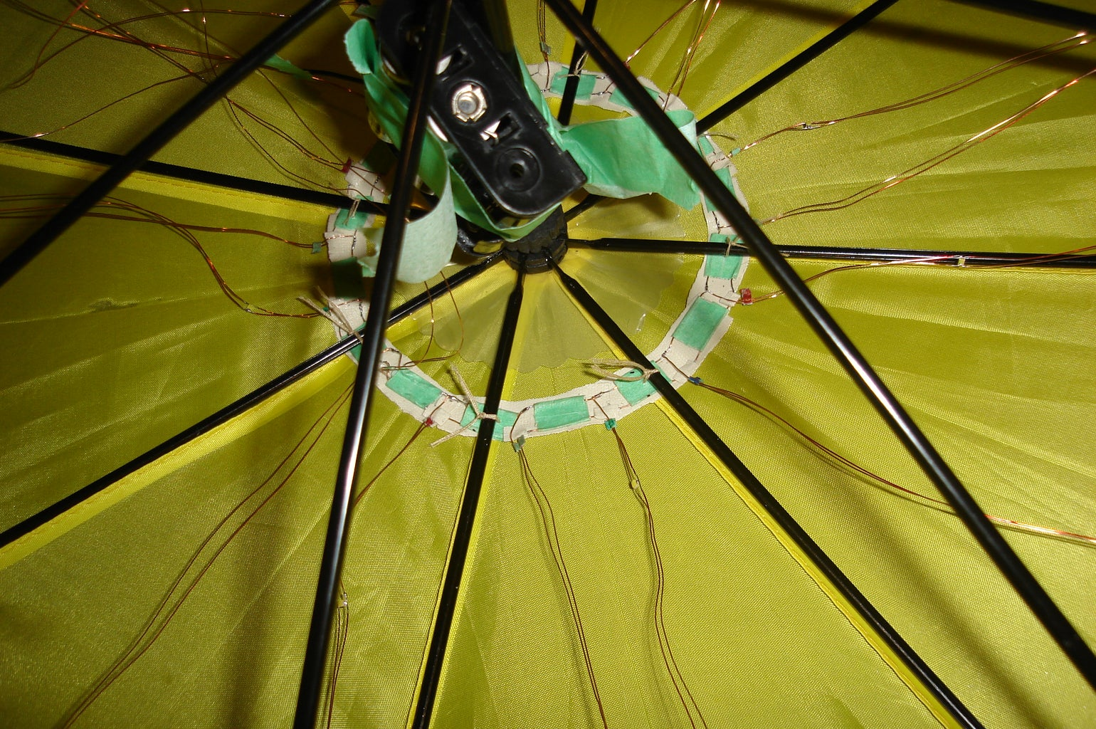 Get the Wires and Hub Into the Umbrella