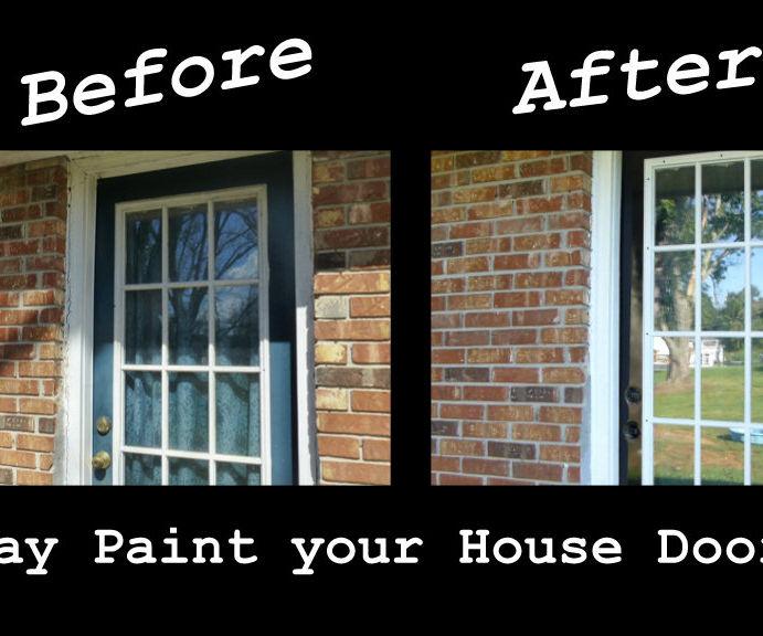 Spray Paint a House Door for Under 10 Bucks