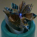 Origami Flower with InstaMorph Sepal and LED Stamen
