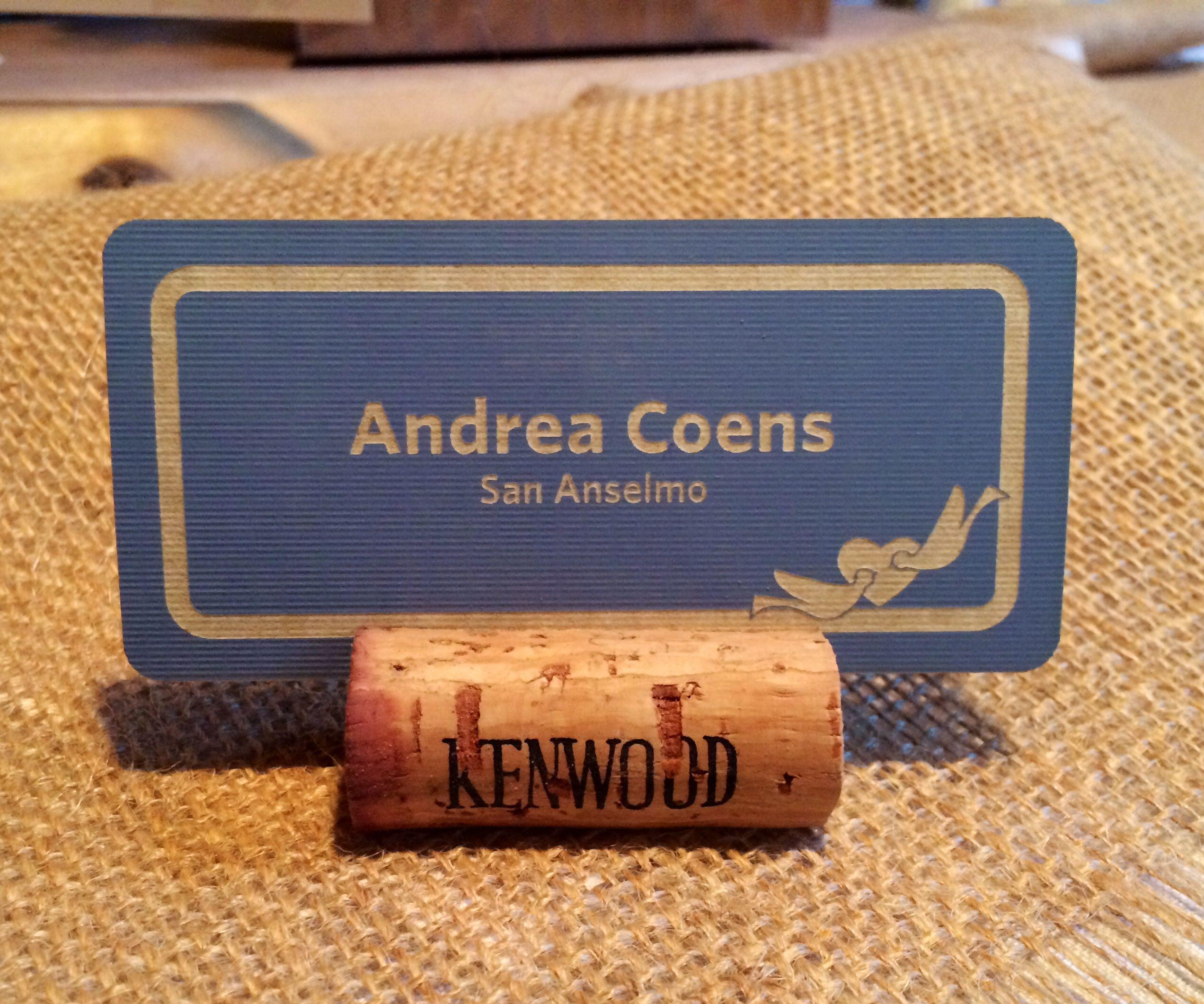 Wine Cork Name Card Holders