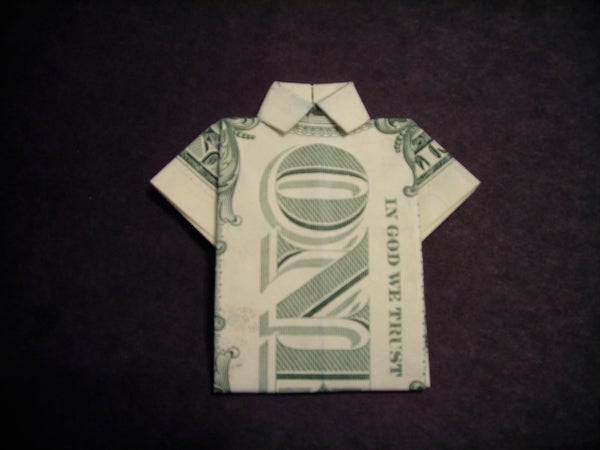 How to Fold a Dollar Bill Shirt