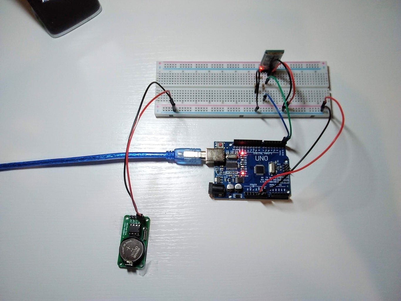 Connect DS1302 RTC Module