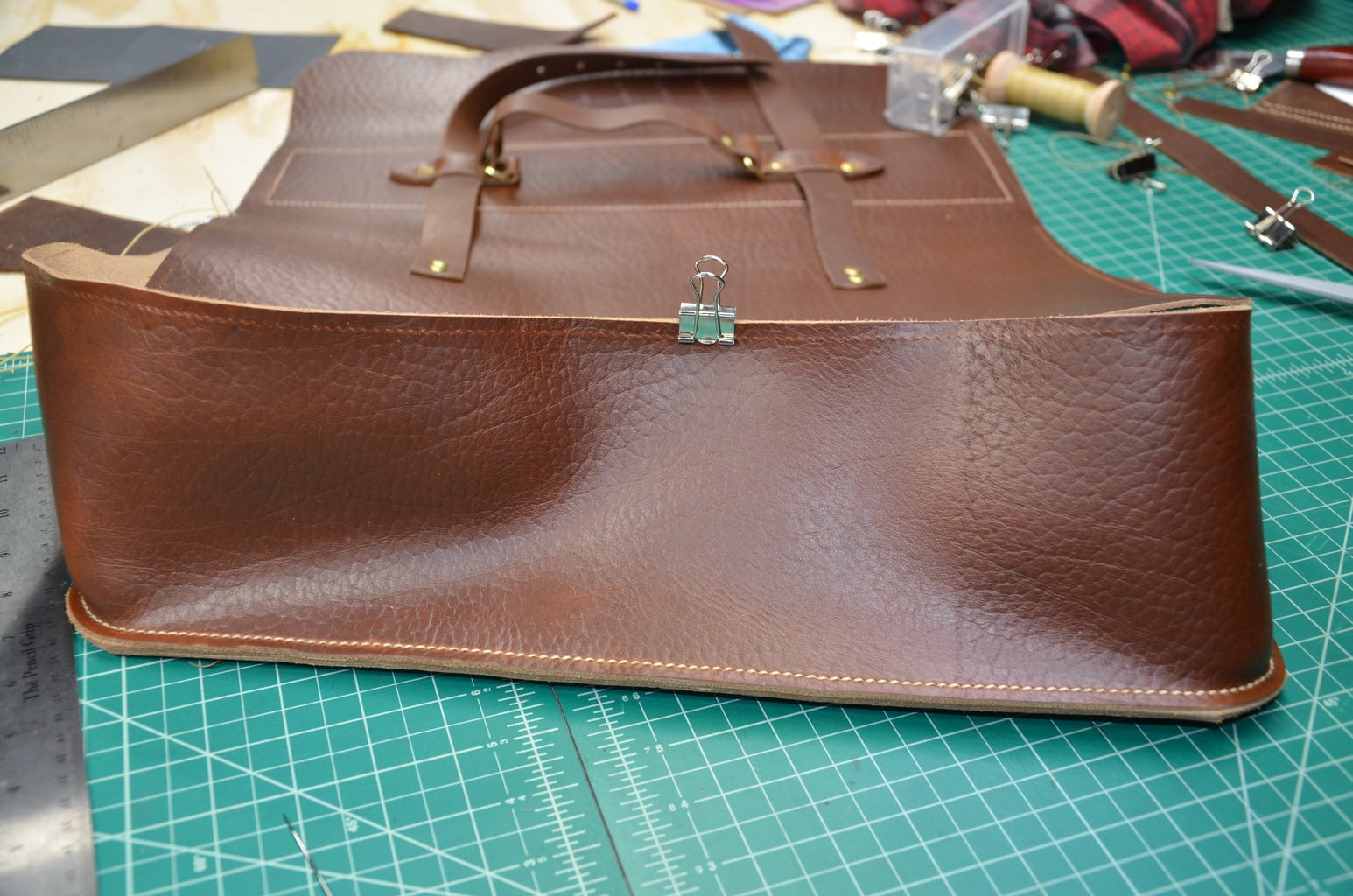 Step 14: Sewing Back Panel and Gusset