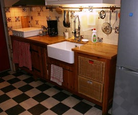 Country Style Kitchen Counter