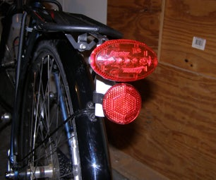 Bracket for Using Seat Post Bicycle Lights on Your Rack