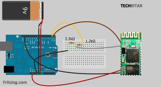 Wiring the Arduino + Bluetooth Transceiver