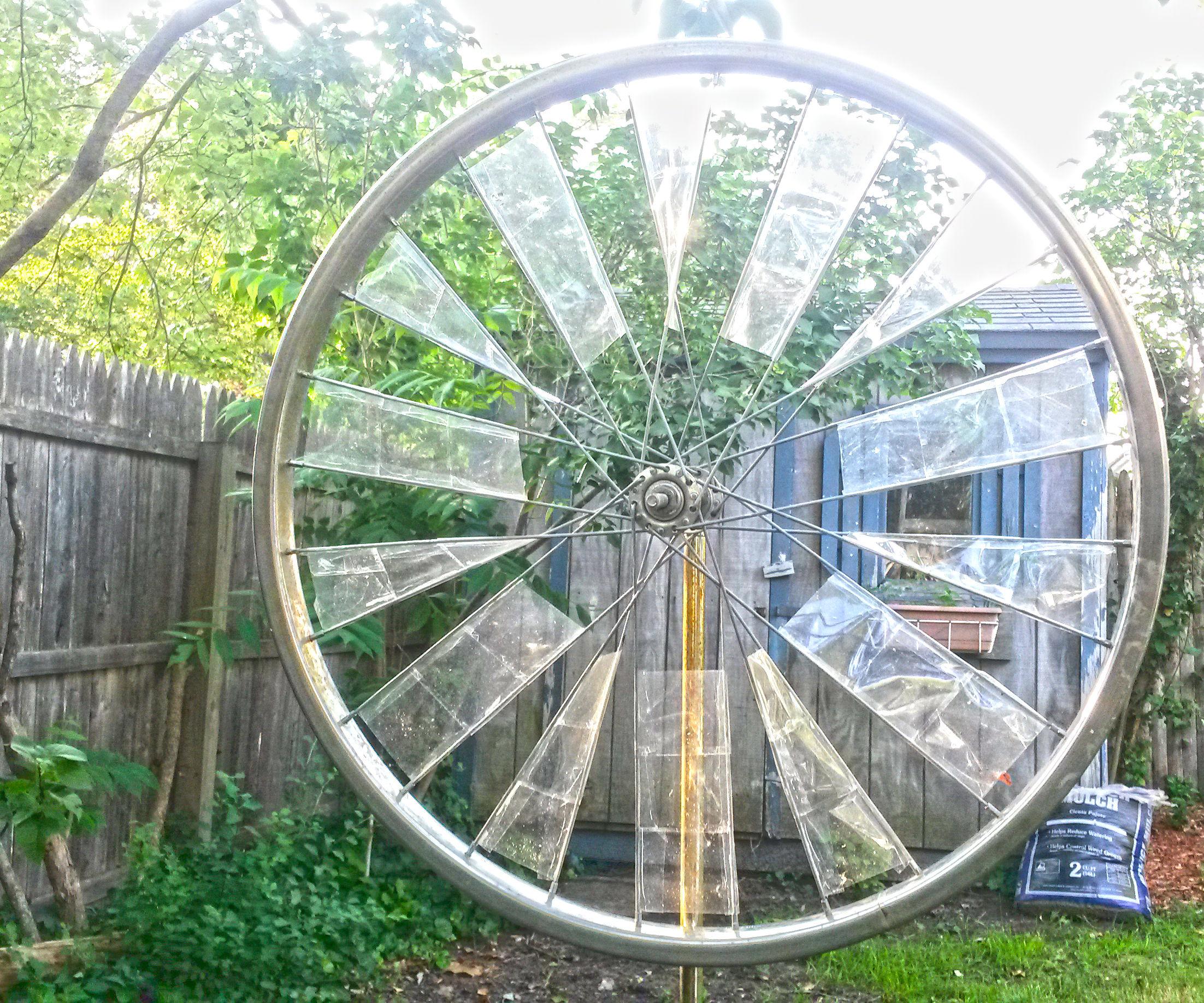 Bicycle Wheel Windmill