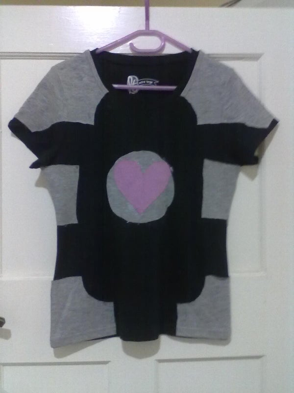 Aperture Weighted Companion Cube Shirt