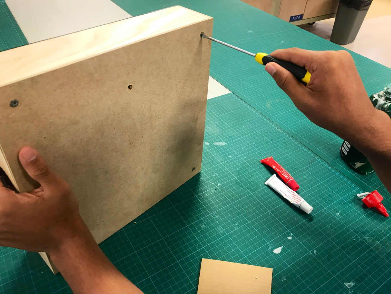 Countersink the Larger MDF Panel