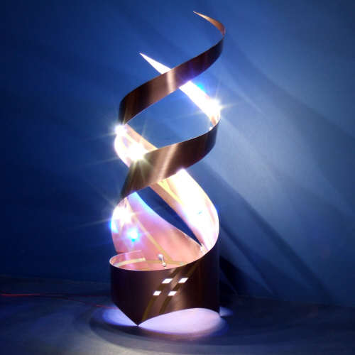 Curved Circuit Art: Make a Double Helix LED Lantern