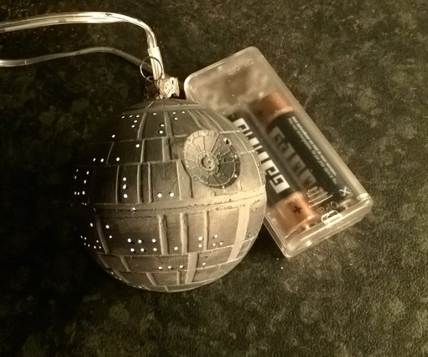 Glowing Death Star Christmas Ornament
