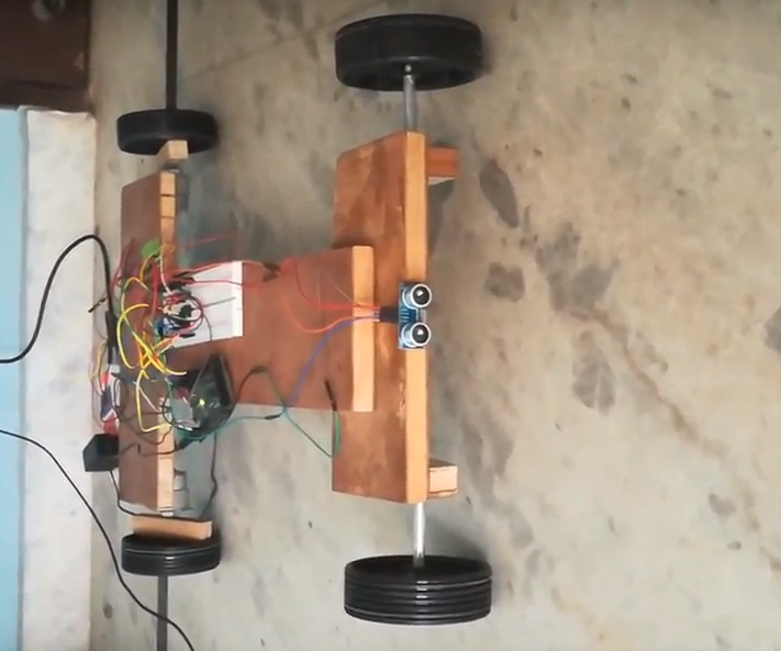 Obstacle Detecting Smartphone Operated RoboCar Using Arduino