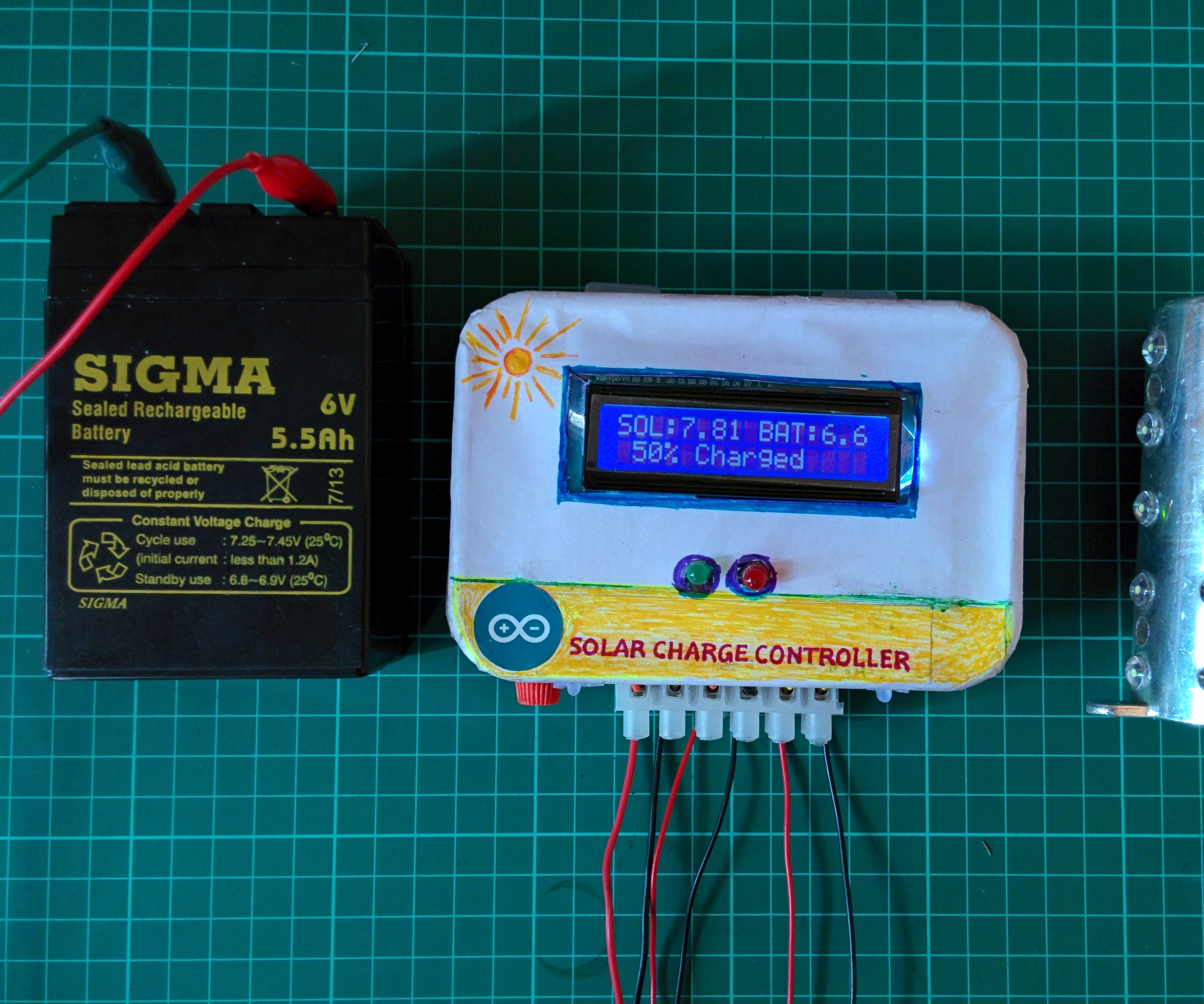ARDUINO SOLAR CHARGE CONTROLLER (Version-1)