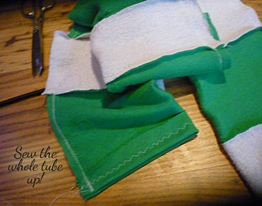 Slytherin Scarf (from Old Sweatshirts)