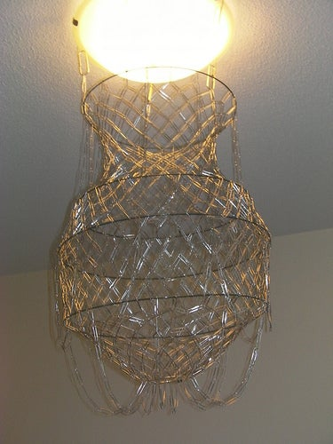 Fabricate an Elegant Chandelier From Paperclips