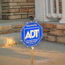 Motion Activated Security Yard Sign