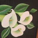 Denim Handmade Calla Lily Paint Bag