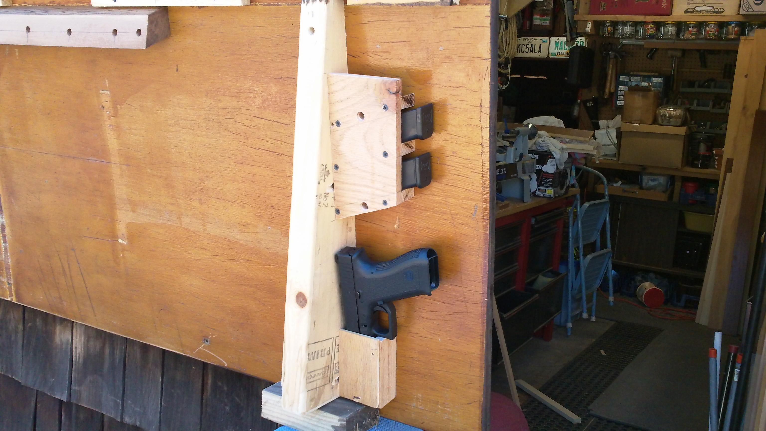 Conceal pistol on Headboard