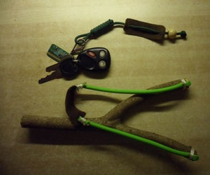 Slingshot From Paracord Keychain