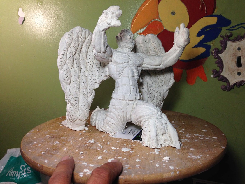 Clay Bird Man by Lu Jimenez