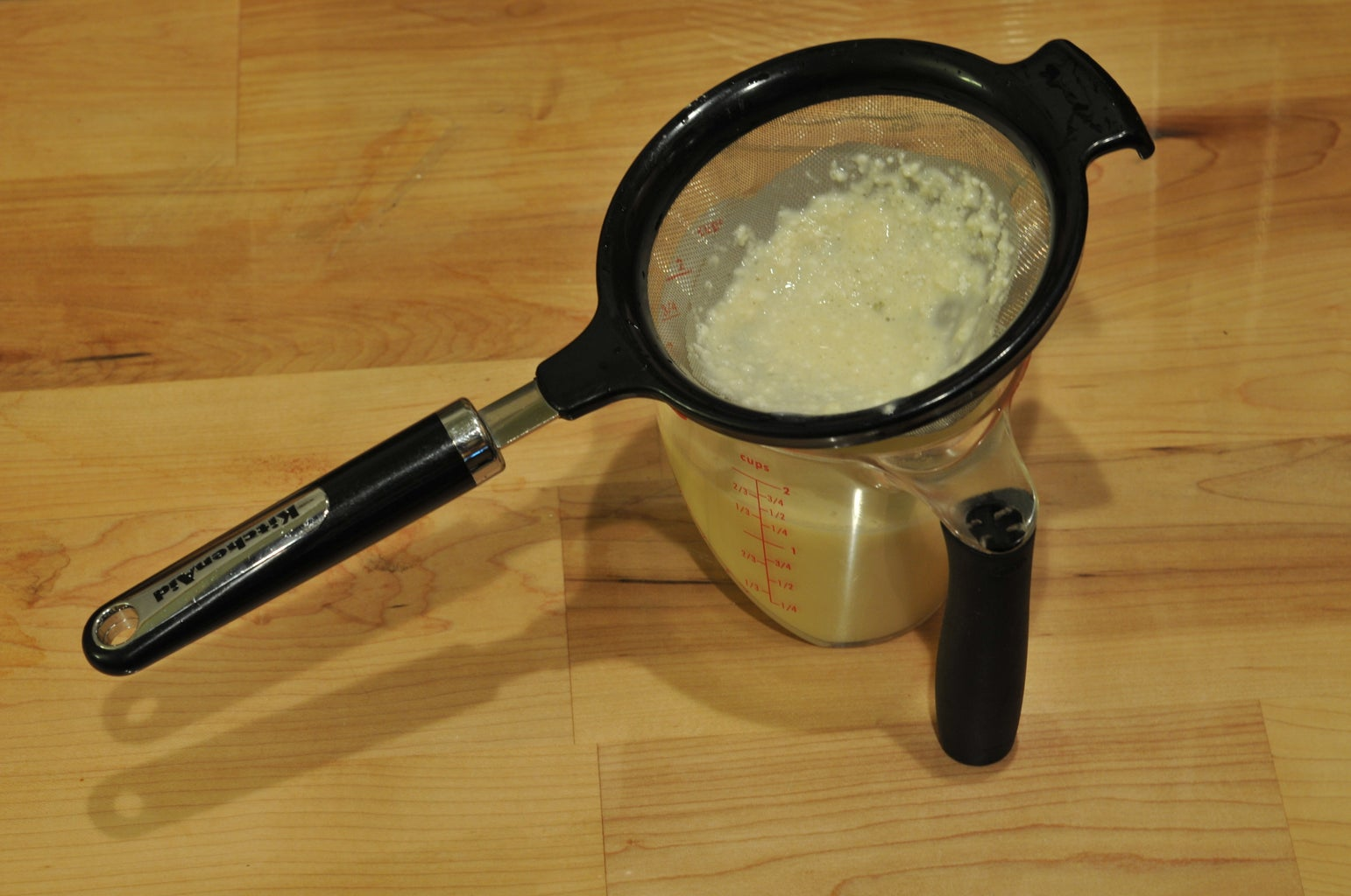 Strain the Batter Into the Measuring Cup