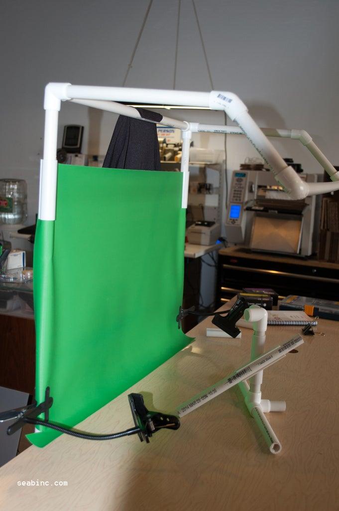 DIY Hooded Light Booth Frame.