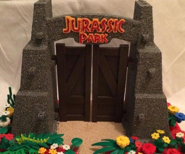 3d Printed Jurassic Park Gates
