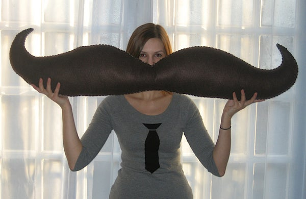 Handsew a Giant Stuffed Moustache!