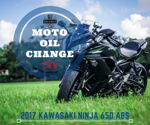 DIY - Motorcycle Oil Change - 2017 Kawasaki Ninja 650 / Z650