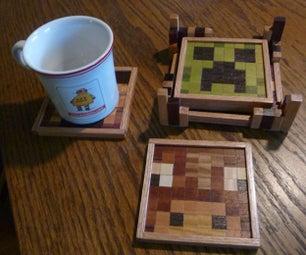 Minecraft Wooden Drink Coasters