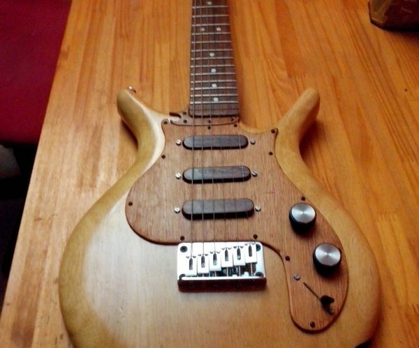 Electric Guitar With Chopping Board