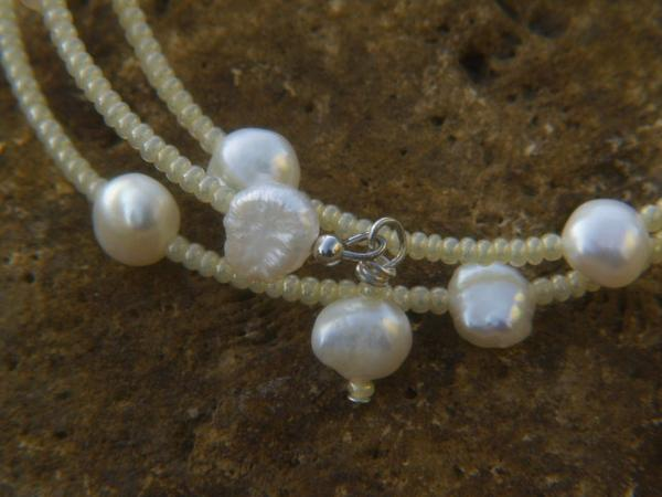How to Make a Freshwater Pearl Cuff Bangle Bracelet
