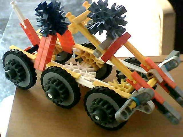 Knex Catapult, Special Reloading System, Made by My 7 Year Old Nephew Joep