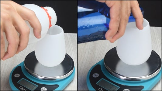 Mixing the Sodium Silicate (Water Glass)