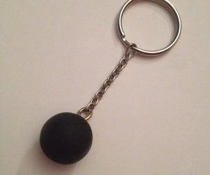 Ball and Chain Key Chain