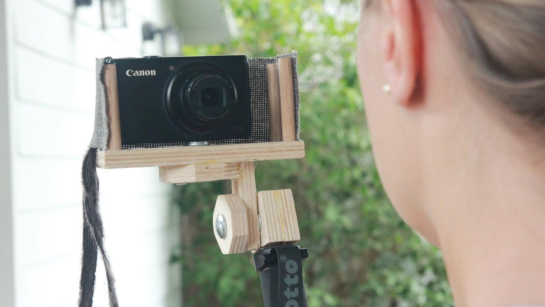 DIY Camera Selfie Stick W/ Wind Screen