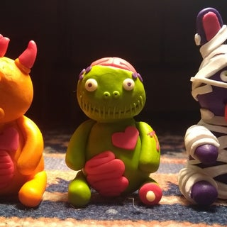 Little Lazies Monster Trio: Mummy, Cyclops and Zombie