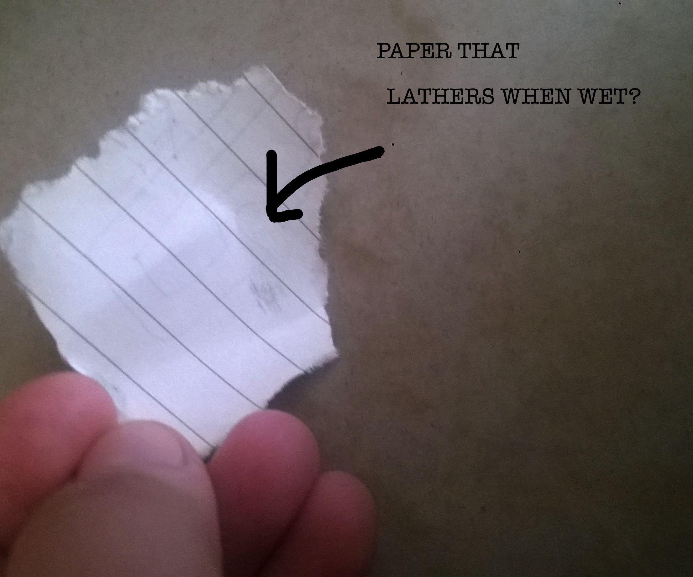 Diy Soap Paper!