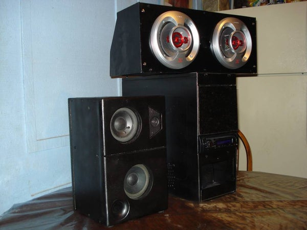 ATX Powered Car Stereo, and 3 Way Speakers (for Home Use)