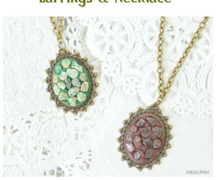 DIY Gemstone Jewelry - Earrings & Necklace