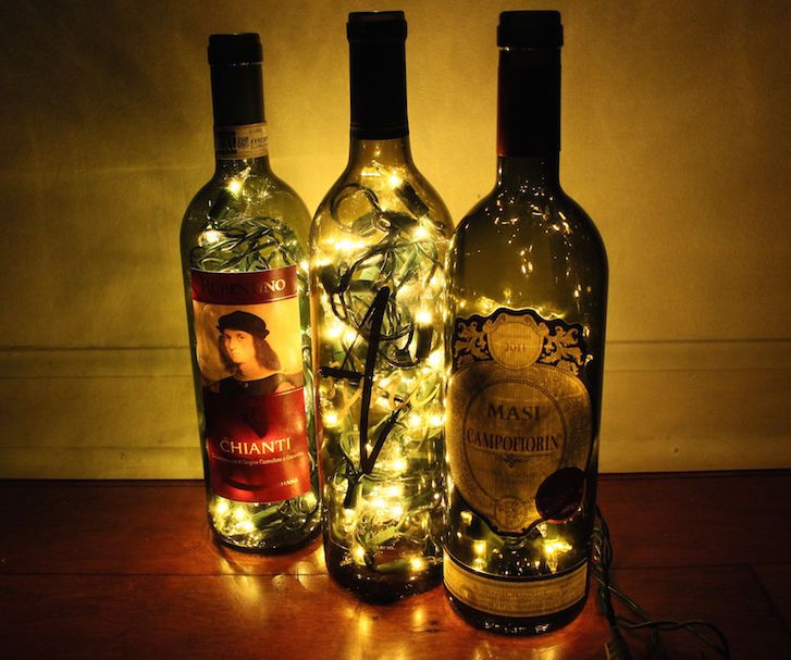 Dramatic Wine Bottle Lights