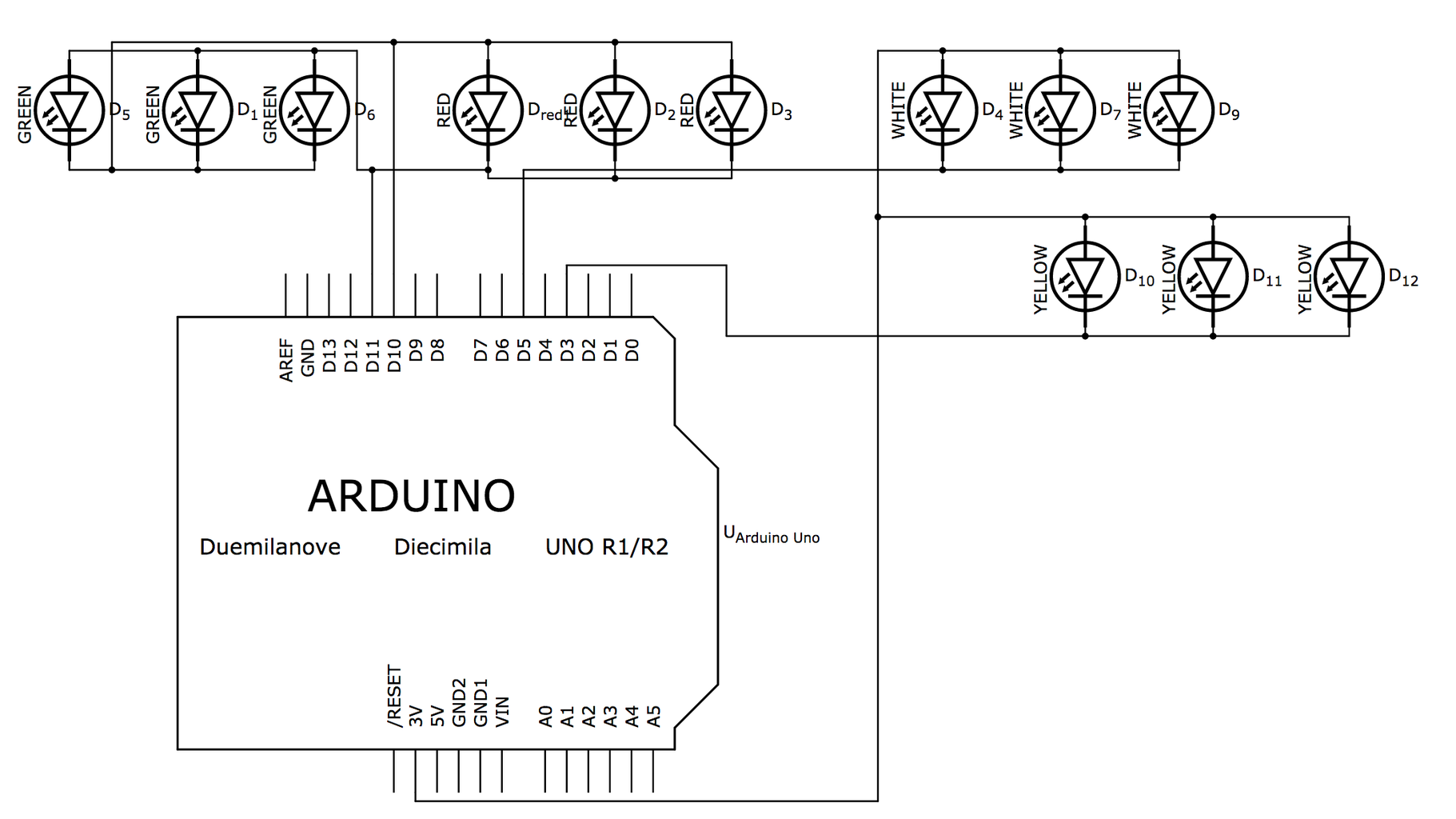 Wiring to the Arduino