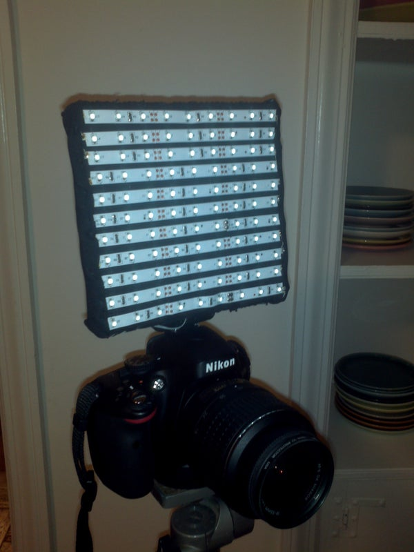 Build a Flexible DSLR LED Video Light