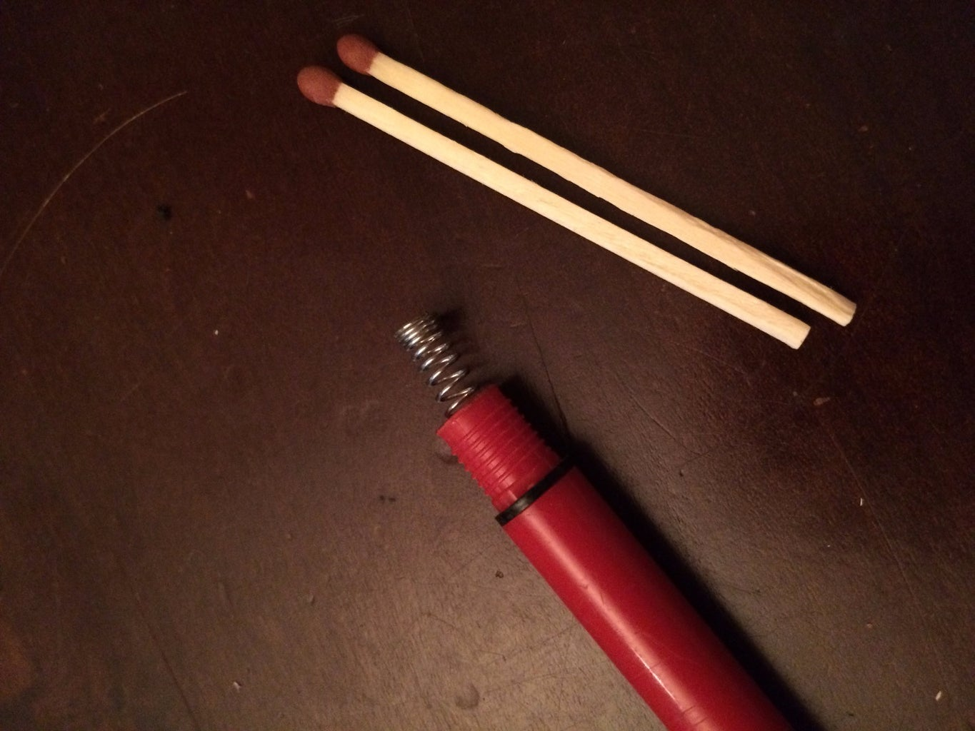 Adjust Spring Force to Hold the Matches