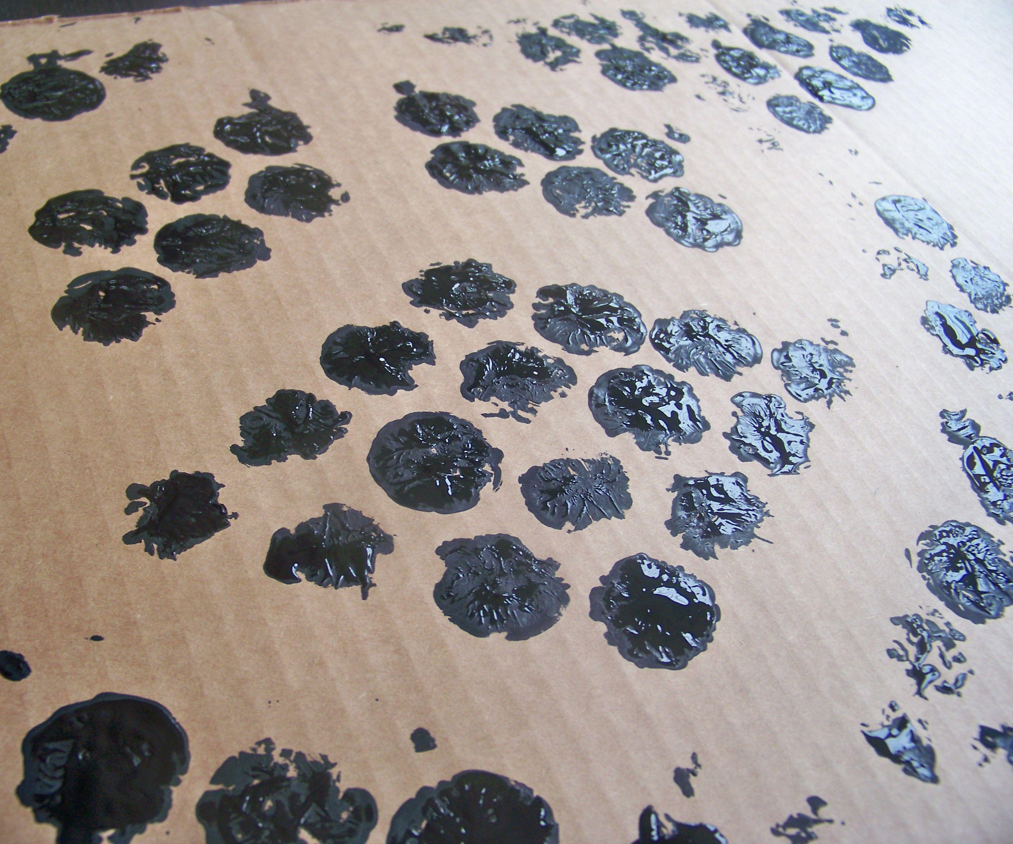 Cheap Modern Art Print from Bubble Wrap