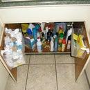 Under the kitchen sink bag storage